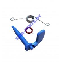 Набор (ремкомплект, спусковое устройство) (пружина, рычаг, уплотнитель) для дозатора посудомоечной машины Bosch (Бош), Siemens (Сименс) 00166630 ORIGINAL