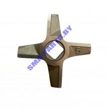 ORIGINAL Нож на шнек для мясорубки Bosch (Бош), Siemens (Сименс) №5 двухсторонний 10003882