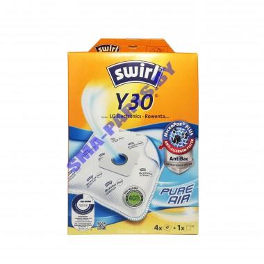 SWIRL Y30 Мешки одноразовые для пылесоса LG, Rowenta 4 шт+микрофильтр, синтетические