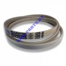 Ремень L-1270 J5 (белый) привода барабана (приводной ремень)  для стиральной машины Samsung, Diamond, Eco Bubble, Crystal Slim