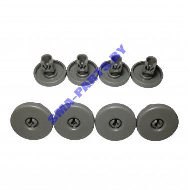 Ролики нижней корзины для посудомоечной машины Electrolux, Zanussi, Aeg 50286965004 8 шт. ORIGINAL