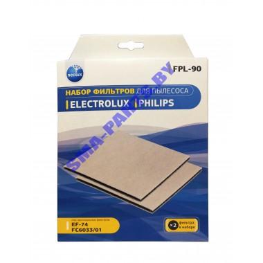 FPL-90NEOLUX набор моторных фильтров (2 шт.) для пылесоса Electrolux, Philips