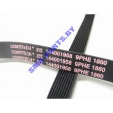 Ремень L-1860 9PHE привода барабана для сушильной машины Indesit (Индезит) C00145707 / 144001958