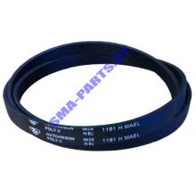 Ремень L-1181 H7 привода барабана ( приводной ремень )  для стиральной машины Индезит ( Indesit ), Аристон ( Ariston )  C00059721 / 482000027084
